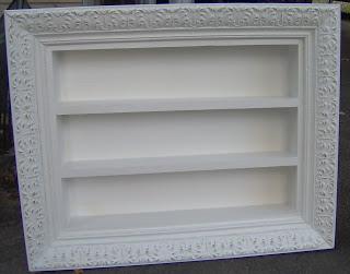 repurposed frame shadow box