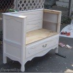 My Repurposed Life--how to make a bench from an old dresser