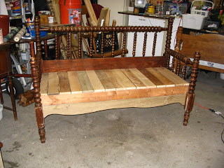 Incredible Headboard Bench Full Size Spindle Or Spool Bed My Short Links Chair Design For Home Short Linksinfo