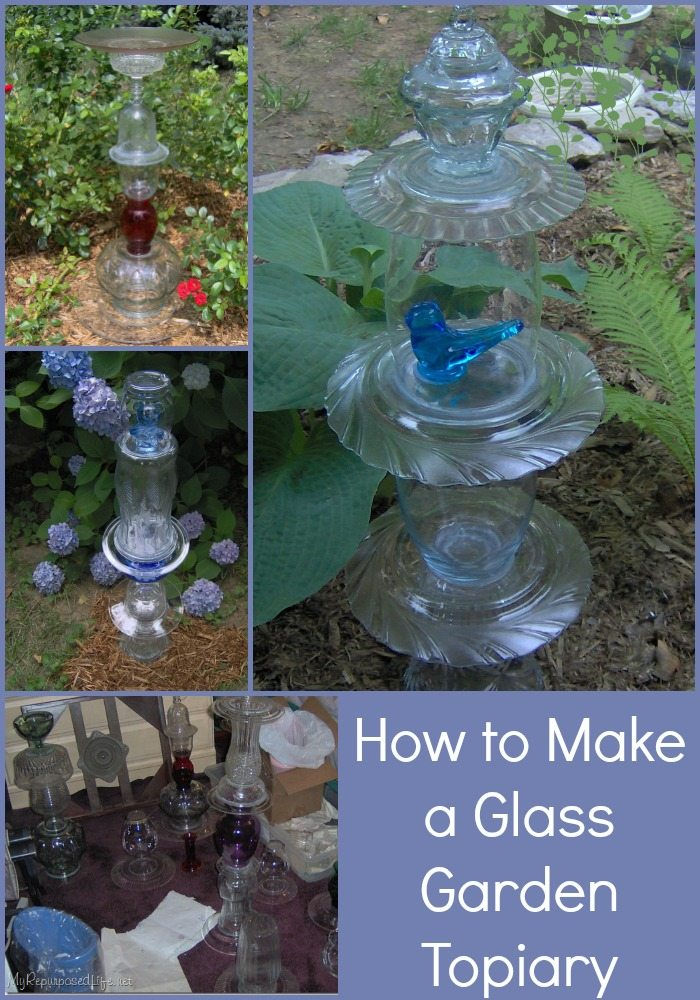 Glass totem tutorial my repurposed life for Making a water garden