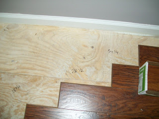 make notation of measurement on floor