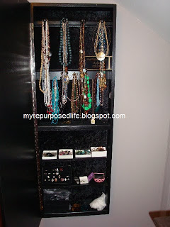 diy hanging jewelry armoire