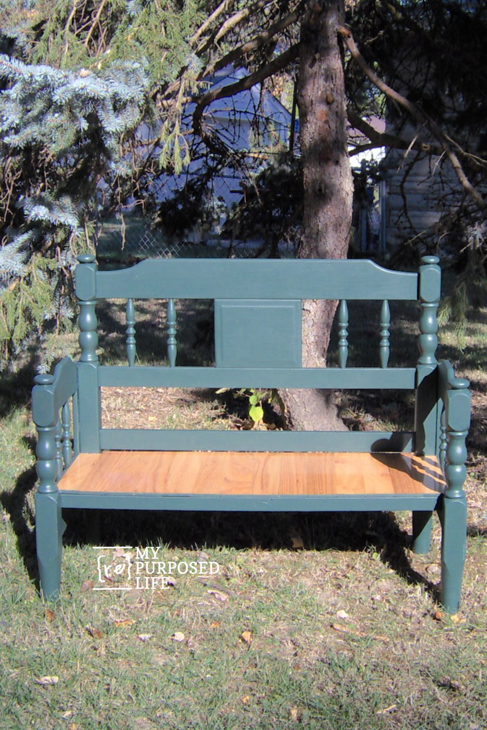 If you have been wanting to make a headboard bench, but have been intimidated by the process, this might be just what you've been looking for! No special tools needed. Only a saw and a drill. #MyRepurposedLife #repurposed #headboard #bench #diy #easy via @repurposedlife