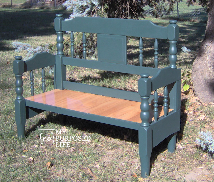 green headboard bench perfect for beginners