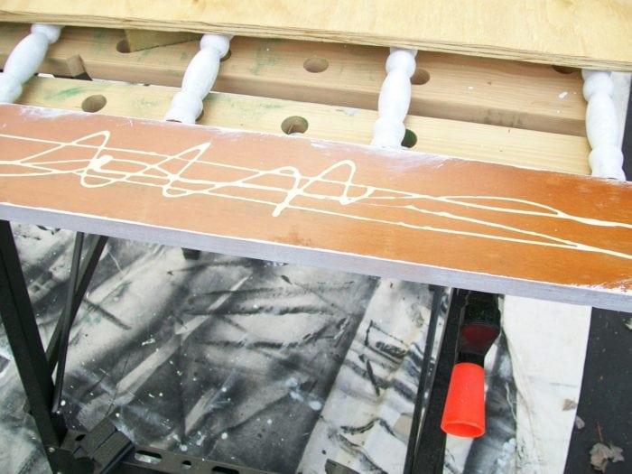 use wood glue to add plywood