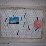 Chicken wire memo center