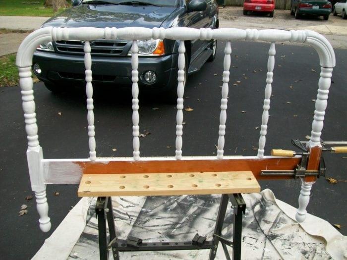 how to make a headboard coat rack