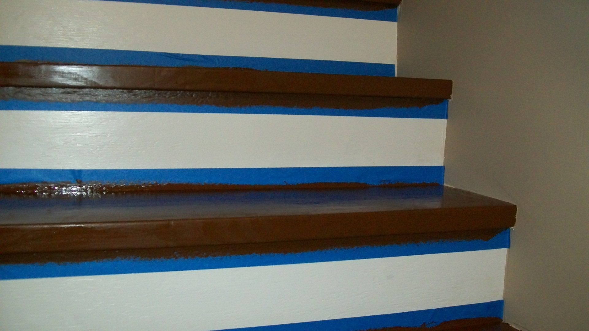 How To Paint Ugly Stairs