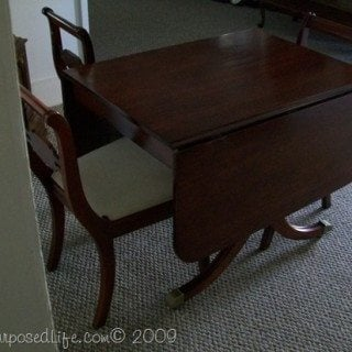 Antique Table and Chairs (furniture refinishing)