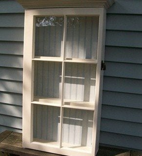 Repurposed Window Cabinet