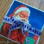 Santa Coasters Made with Holiday Napkins