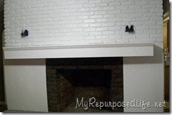 faux fireplace facade