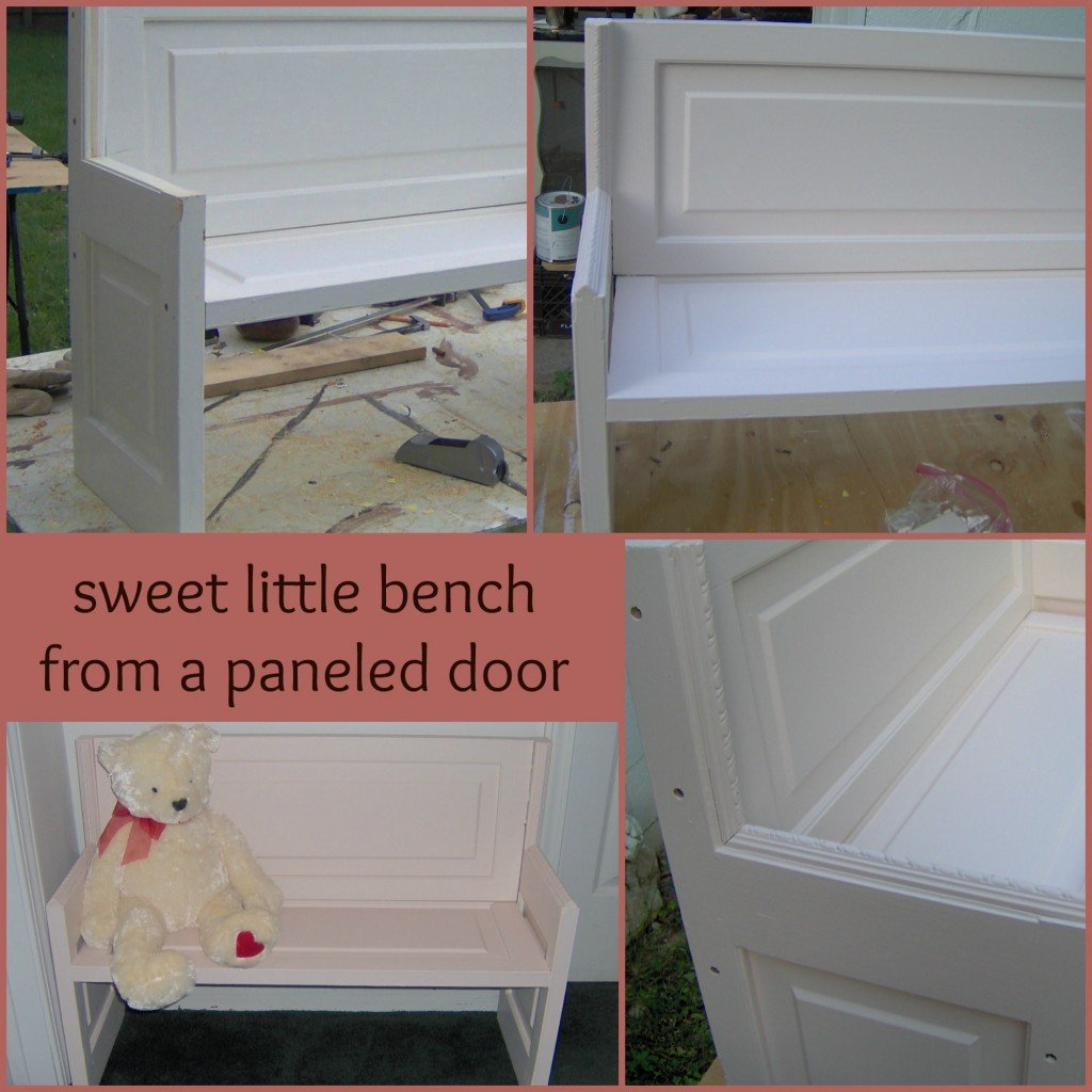 Door repurposed into bench - My Repurposed Life®