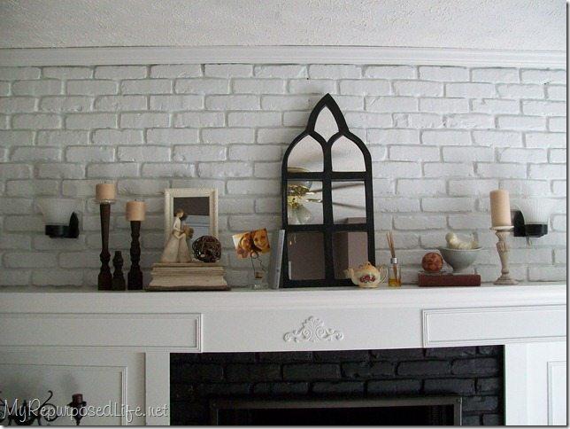 Brick Fireplace Makeover - My Repurposed Life™