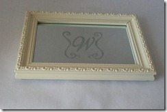 Small mirrored tray