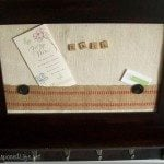 Coat rack memo board