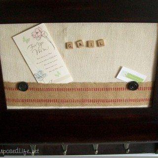 Coat rack memo board