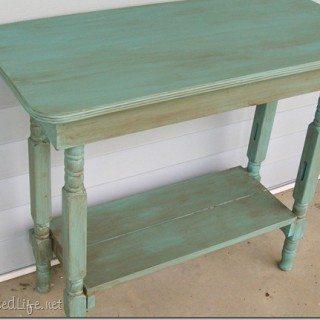 Repurposed crib legs + table top