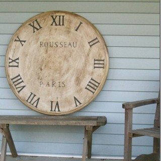 faux clock from a table top pt 2