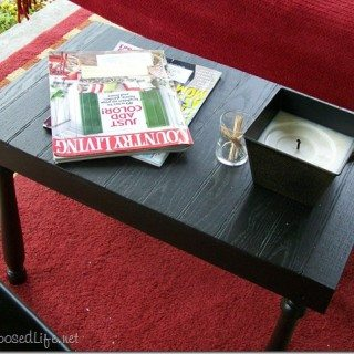 outdoor side table made from scraps