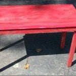 My Repurposed Life-sweet rustic table made from a cabinet door