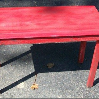 Simple rustic table