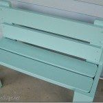 Repurposed Bunk Bed Bench