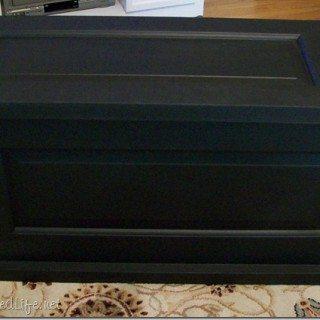 Repurposed Door blanket chest