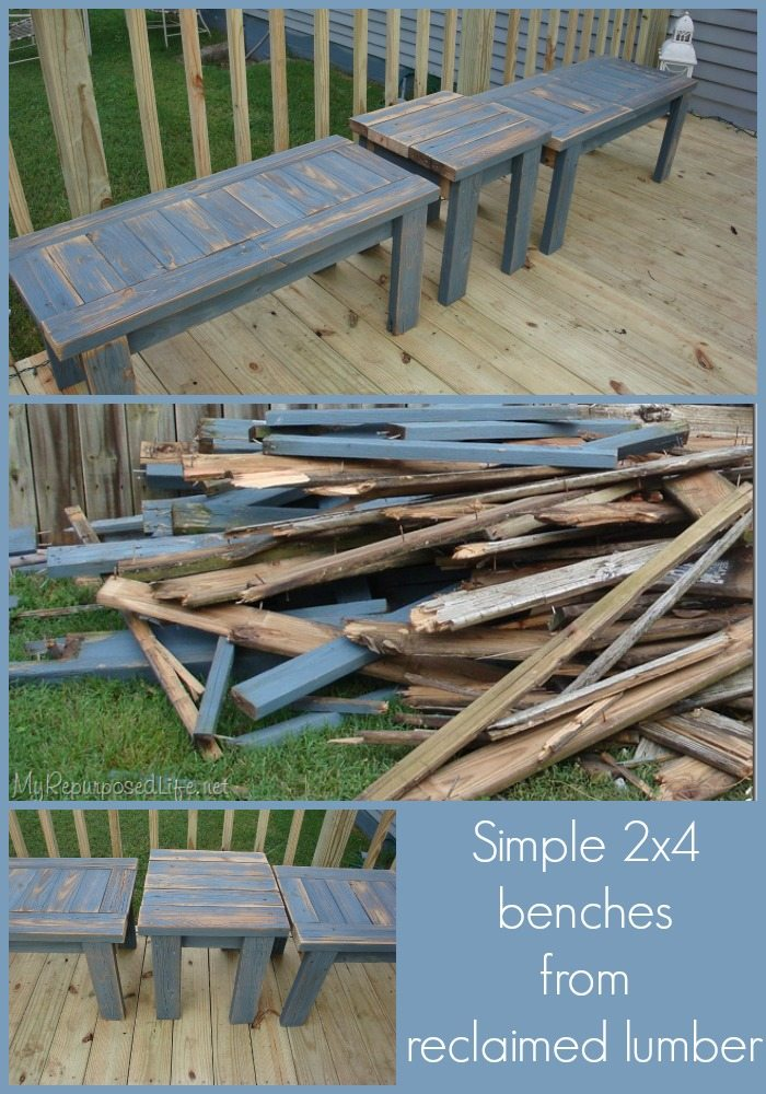 Simple Bench Made From 2x4s