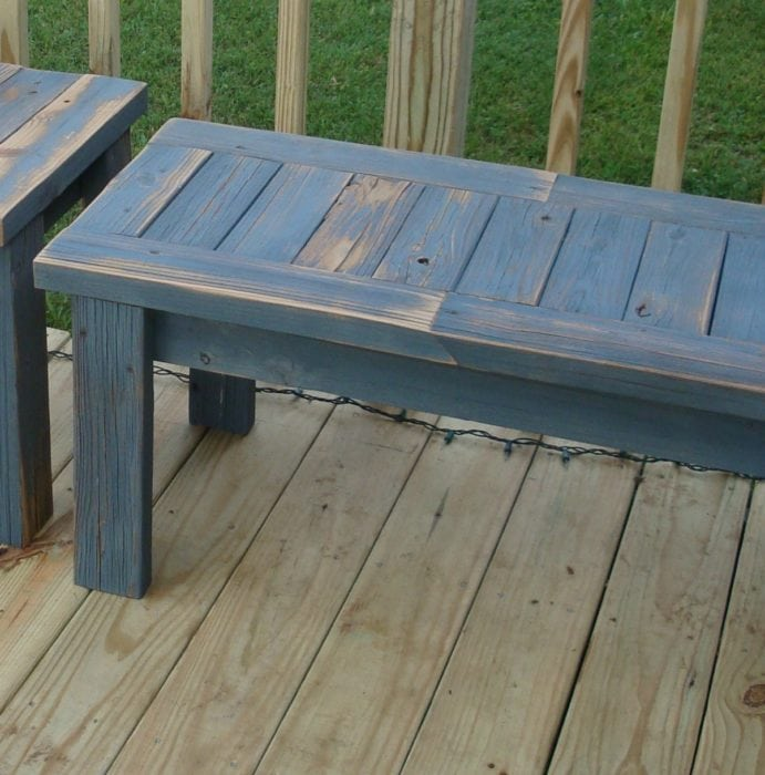 add legs to simple 2x4 bench
