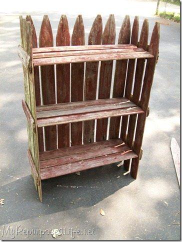 Stockade Fence Into Plant Shelf My Repurposed Life
