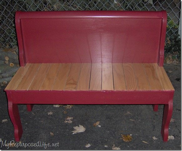 1 Sleigh Bed 2 Benches My Repurposed Life