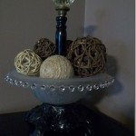 Decorative Bowl Repurposed Lamp