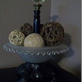 Decorative Bowl Repurposed Lamp