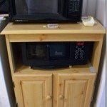 old microwave cart