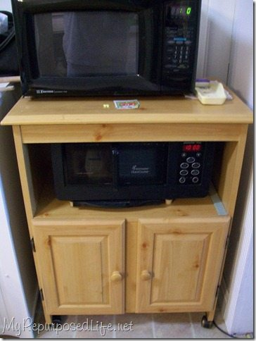 microwave cart re do my repurposed life. Black Bedroom Furniture Sets. Home Design Ideas