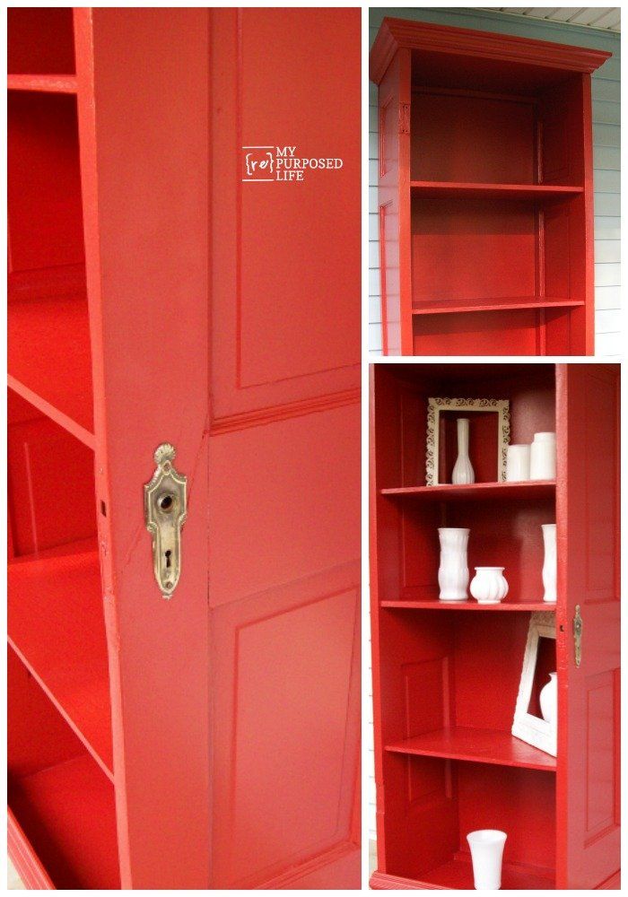 How to use an old door to make a bookshelf. Step by step directions on how to accomplish this project in a weekend. 