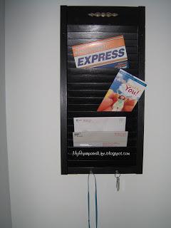 repurposed shutter mail holder