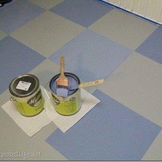 How I Painted My Vinyl Floor