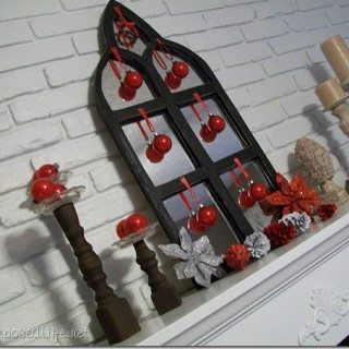 Less is More Christmas Mantel