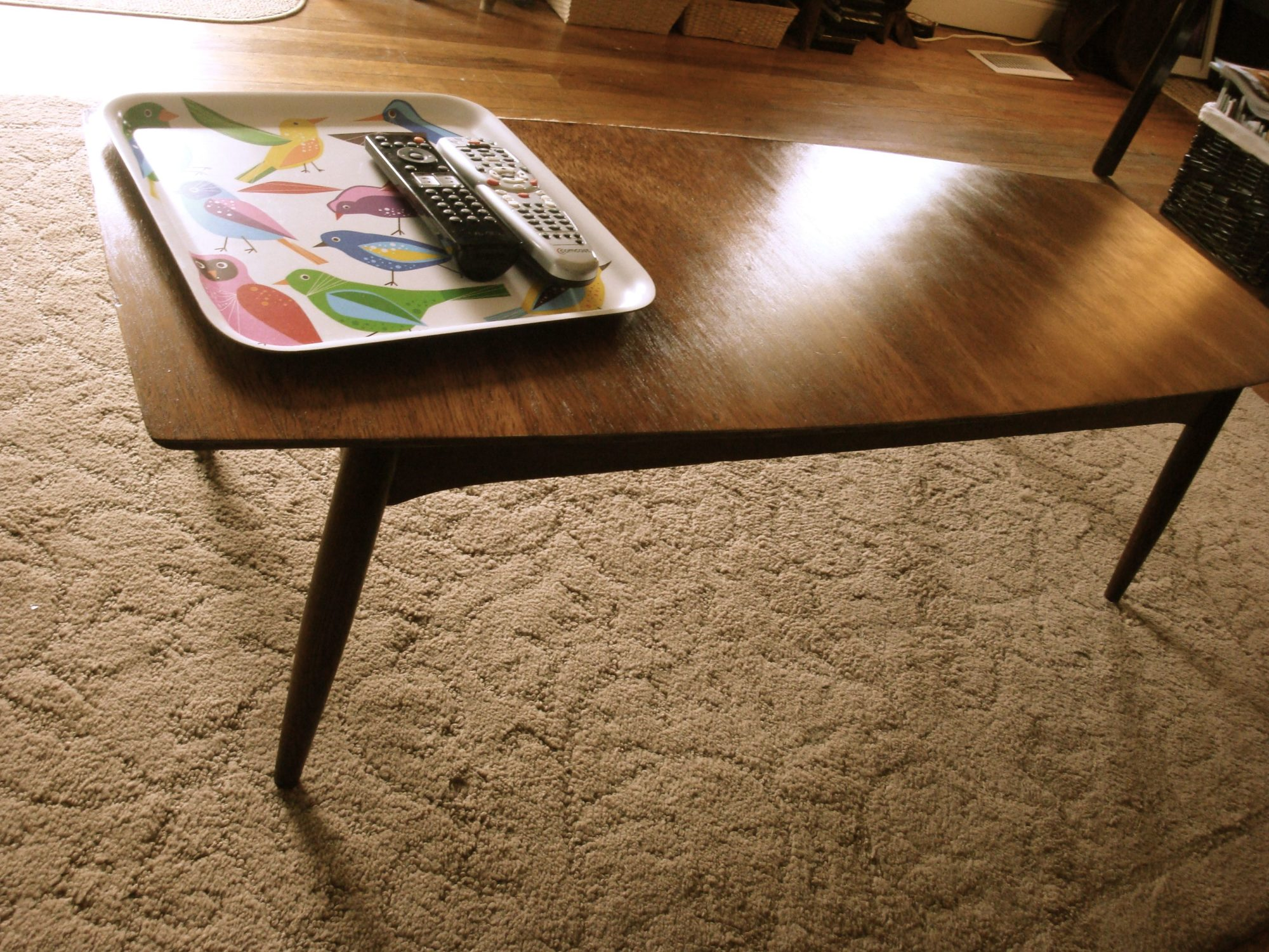 my repurposed lifemid century modern coffee table makeover