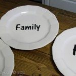 spray painted plates