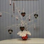 Valentine tree with Krylon Spray Paint