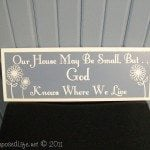 "Silhouette Easy Vinyl Sign ""Our House"""