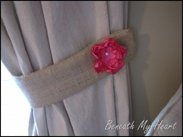 How To Make Burlap Tie Backs By Beneath My Heart My
