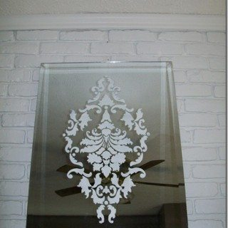 Damask Stenciled Mirror