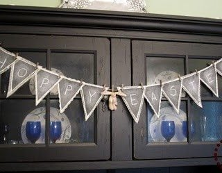 Guest Post Chalkboard Bunting by The Scrap Shoppe