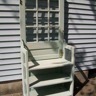 Repurposed Door into Bookshelf/Nightstand