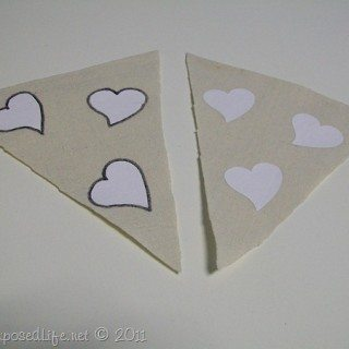 Silhouette Iron On Transfer (bunting with drop cloth)