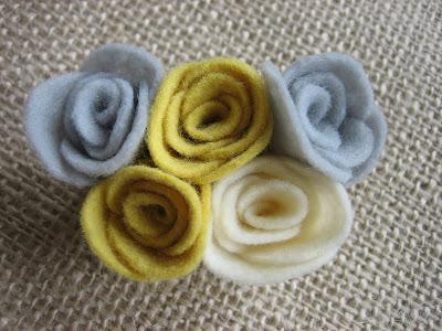 wool blend diy felt rosettes